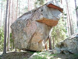 Oppballad sten i Irland