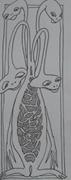 4 hodet vesen tegnet av Lise Lotte Høj
